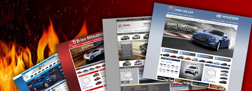 Auto Dealer Websites	Easily Managed and Custom Designed